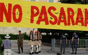Indignados en Grecia ¡No pasarán!