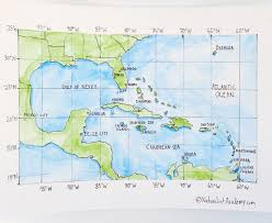 Latitude Map Geography Lesson U2013 Gulf Of Mexico And Caribbean Sea Naturalist