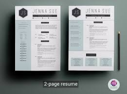 Unique Cv Templates 2 Page Resume Template Resume Templates Creative Market