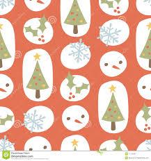 cute christmas pattern retro red stock image image 17115301