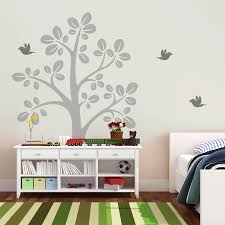compare prices on tree decals online shopping buy low price tree large tree vinyl wall decals with flying birds nursery tree wall sticker baby bedroom