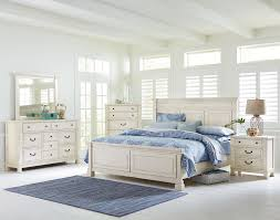 Vintage White Bedroom Furniture Standard Furniture Chesapeake Bay Vintage White Queen Panel Bed