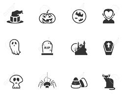 halloween vector art 19605563 halloween icon series in black and white stock vector jpg