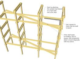 Build Wooden Shelf Unit by Storage Shelf Plans