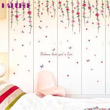 online get cheap wall decals flower aliexpress com alibaba group kakuder home decor wall sticker window stickers romantic art wall decal flower rattan paster removable u61213