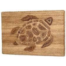 Sea Turtle Home Decor Turtle Woven Wall Art For Coastal Decor Allwoven Com