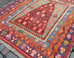 Vintage Turkish Kilim Rugs Pink Kilim Rug Etsy