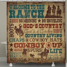 Cowboy Style Home Decor Western Shower Curtains At Lone Star Western Decor