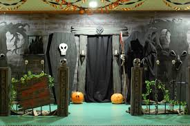 make your own outdoor halloween decorations haunted house entrance