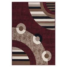 sweet home stores clifton collection modern circles design red 5