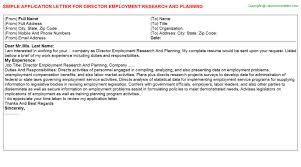 Sample Job Application Letter In School