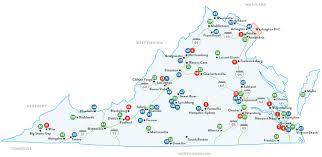 Roanoke Virginia Map by Colleges And Universities In Virginia