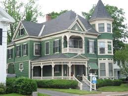 modern green nuance of the modern victorian house plans that has