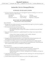 Car Sales Consultant Job Description Resume by Resume For An Automotive Service Manager Susan Ireland Resumes