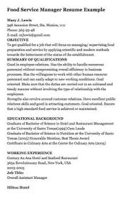 Resume Examples For Food Service by Food Service Worker Resume Sample Use This Food Service Industry