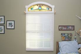 handmade arched stained glass bedroom window by painted light