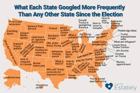 Google Map Usa by What Each State Googled More Frequently Than Any Other State Since