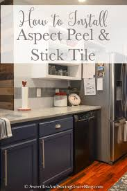 how to install aspect peel stick tile backsplash sweet tea installing a tile backsplash doesn t have to involve a big mess with a wet