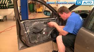 how to install replace front inside door handle nissan altima 98