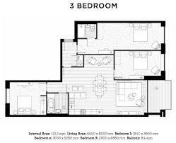 3 Bedroom Apartment Floor Plan Royal Wharf Floor Plans
