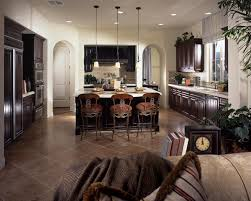 eat in kitchen island dark brown upholstered kitchen seatings