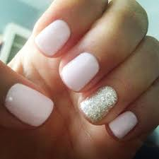 light pink and gold glitter gel mani nailed it pinterest