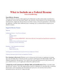 federal format resume what to include on a federal resume bop