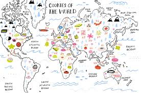 Egypt On A World Map by 46 Cookie Recipes From All Over The World