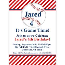 Birthday Invitation Cards Models Baseball Birthday Invitations Redwolfblog Com