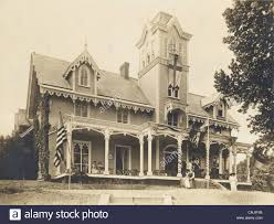 steamboat gothic victorian mansion stock photos u0026 steamboat gothic