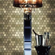 Aluminum Kitchen Backsplash Hexagon Aluminum Plate Adhesive Self Adhesive Mosaic Tiles For