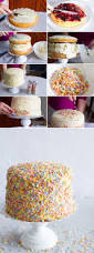 how to decorate a confetti sprinkle cake confetti sprinkles