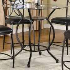 Metal Dining Room Chair Round 1 Dining Room Fabulous Round Glass Top Dining Table Metal