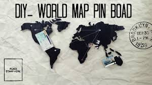 World Map Pinboard by Diy World Map Pin Board The Galaxy Artist Youtube