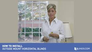 how to install wood and fauxwood blinds outside mount u0026raquo