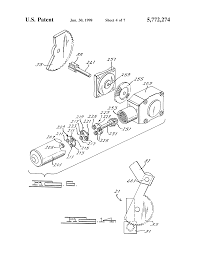 patent us5772274 motorized drive system for a convertible roof