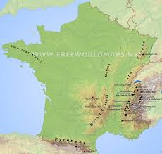 Map Of France And Switzerland by France Physical Map