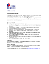 Cover Letter Example Human Resource Classic Human Resources CL Classic