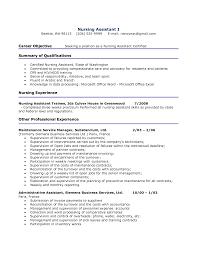 Resume Format Nursing Job by Resume Examples Nursing Assistant Augustais