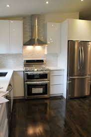 pretty swanky digs ikea abstrakt white high gloss kitchen in