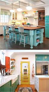 Painting Kitchen Cabinets Two Different Colors Best 10 Turquoise Kitchen Cabinets Ideas On Pinterest Turquoise