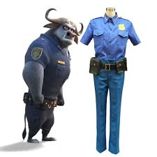 Security Guard Halloween Costume Movie Zootopia Chief Bogo Cosplay Costume Police Officer Uniform