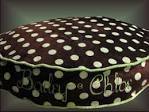 Round Pillow Dog Pillow 25 Polka Dot Pillow for Dogs by rendachs