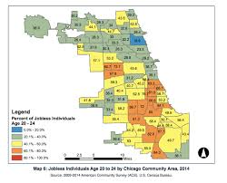 Chicago Suburbs Map Report Nearly Half The Black Men In Chicago Out Of Work