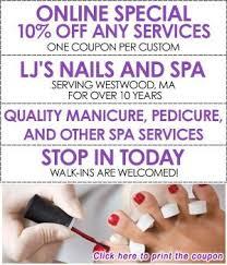 nail salon westwood ma lj u0027s nails and spa