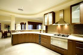 home kitchen design with modern kitchen appliances and granite