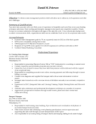 Online Marketing Manager Resume by Samples Objective And Summary Of Qualifications Catering Sales