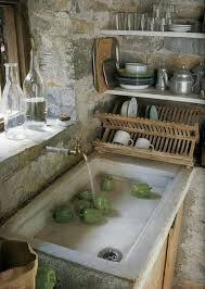 Gorgeous Stone Sink Old Kitchen Shallow And Wide Skoolie Dream - Shallow kitchen sinks