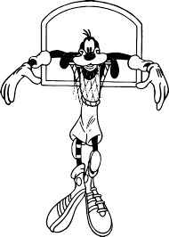 goofy basketball basket coloring pages wecoloringpage