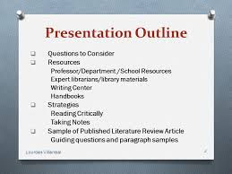 Template for literature review outline